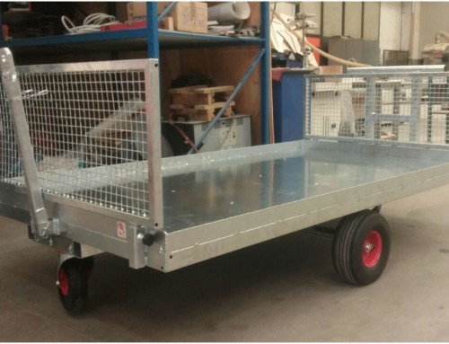 Rectangular bale trolley